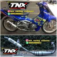 Knalpot Racing Satria 2 Tak Underbone Plat Karat TNX Racing