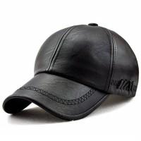 Topi Kasual Kulit Sporty / Plain Cap England PU Leather Premium