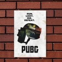 Run Loot Repeat (Poster Kayu)