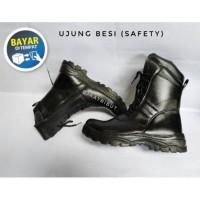 Terlaris Sepatu PDL ujung besi kuat / Safety TNI/POLRI /SATPAM