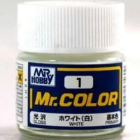 HOT SALE Mr Color C 1 WHITE - Gundam model kitt paint Terjamin