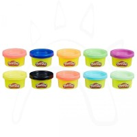 REFILL PLAY-DOH ORIGINAL 10 PARTY PACK TUBE MINI CANS PLAY DOH PLAYDOH