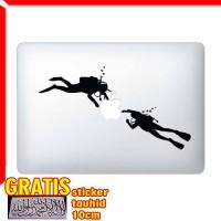 Decal Sticker Scuba Diver Macbook Pro & Air