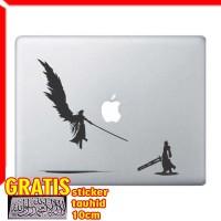 Decal Sticker FF VII One Winged Sephiroth VS Cloud Macbook