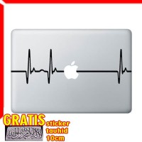 Decal Sticker Heart beat Pulse Macbook Pro and Air
