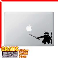 Decal Sticker Ninja Cat - Sword Crouching Macbook Pro Air