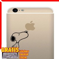 Decal Sticker Snoopy Smelling Apple New Iphone