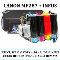 Printer Infus Canon Pixma MP 287 MP287 Inkjet all-in-one + SUDAH