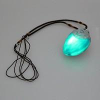 Mainan Anak Kalung Moana Tali Kain+Liontin Batu 5cm dengan Lampu dan