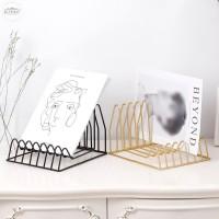 Book Iron Shelf Magazine Stand Holder Office Home Desk Storage