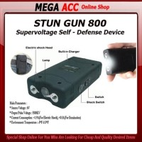 Senjata Kejut Listrik Alat Setrum Stungun Stun Gun Senter Led