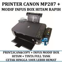 Printer Canon Pixma MP 287 Inkjet all-in-one + INFUS Box TERTUTUP