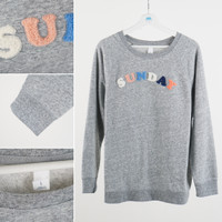 Sweatshirt Wanita- Old Navy Sweatshirt Grey Sunday - Abu-abu, XS