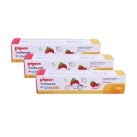 Pigeon Toothpaste Strawberry 45gr 2pcs FREE Orange 45gr