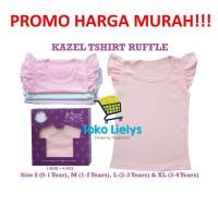 Kazel Ruffle Shirt Kaos Baju Anak Bayi Perempuan Cewek Pastel Edition - UK XXL