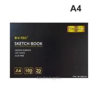 V-Tec Sketchbook A4 - 20 lembar (160gsm) Medium Surface