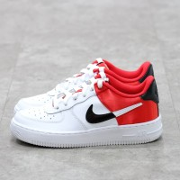 Nike Air Force 1 White Red 100% Authentic