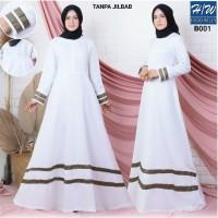 AGNES - H/W Baju Gamis Wanita Gamis Muslim Gamis Putih Wanita B001