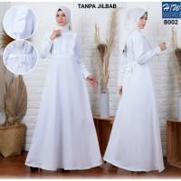 AGNES - H/W Baju Gamis Putih Wanita Busana Muslim Lebaran Terbaru B002
