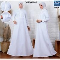 AGNES - H/W Baju Gamis Putih Wanita Busana Muslim Lebaran Terbaru B004
