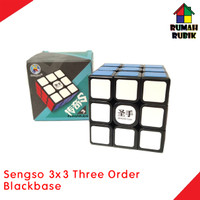 Rubik 3x3 Sengso Three Order Magic Cube Blackbase - Rubik Murah