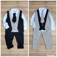 Baju Pesta Setelan Rompi Anak Laki-Laki Tuxedo Kaos 2-4 Tahun