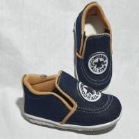 Sepatu Prewalker Anak Cowok Laki Denim Bunyi Slip On Lokal SBY25