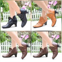 Boots Wanita Import Doble Busa High Quality Kulit heels 6cm PS14