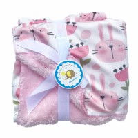SELIMUT BAYI BABY CARTER DOUBLE FLEECE BLANKET RABBIT -CC