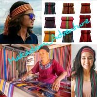 syal etnik lombok ikat kepala rajut kain tenun