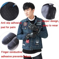 Sarung Tangan Sepeda Motor Resleting Touch Screen Waterproof Gloves - M