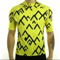 Jersey Aero Racmmer Arrow Yellow - Quick dry Coolmax and Lightweight