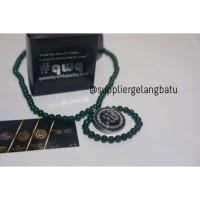 KALUNG lafaz silver giok hijau Ginsamyong al muslim azhikra obsidian