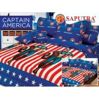 Saputra Bed Cover Set King Captain America / Bedcover 180x200