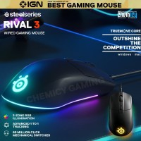 Steelseries Rival 3 TrueMove Core Wired Gaming Mouse