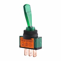 ✅Green Lamp Toggle Switch Rocker 3Pin 12V. Saklar Toggle Hijau