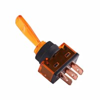 🍊Orange Lamp Toggle Switch Rocker 3Pin 12V. Saklar Toggle Orange