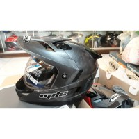 Helm MDS Full Face Super Pro Abu Grey Gunmetal Glossy Double Visor