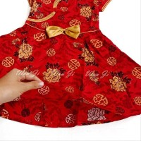 Dress Imlek Anak 2-5 Th Di11 Xincia Sincia Cheongsam Baju Imlek Hiasan