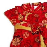 Dress Imlek Anak 5-8 Th Di06 Xincia Sincia Cheongsam Baju Imlek Hiasan