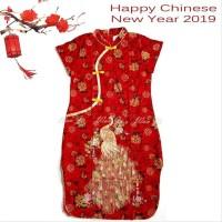 Dress Imlek Dewasa Xl-Xxl Di02 Xincia Sincia Cheongsam Baju Imlek