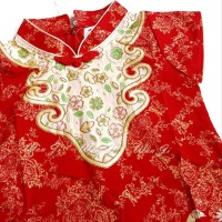 Dress Imlek Anak 1-8Th Di07 Xincia Sincia Cheongsam Baju Imlek Hiasan