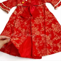 Dress Imlek Anak 1-12 Th Di10 Xincia Sincia Cheongsam Baju Imlek