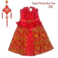 Dress Xincia Anak 1-5 Tahun Di10 Sincia Cheongsa Baju Imlek Hiasan