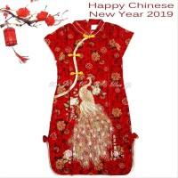 Dress Imlek Dewasa S-L Di02 Xincia Sincia Cheongsam Baju Imlek Hiasan