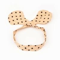 Baby headband - polcadot bow style