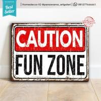 caution | hiasan | hiasan dinding | poster | kayu | wall decor