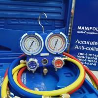 Manifold AC value R22 , R134 plus box bok VMG 2 Analize manifold dobel