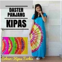 daster kipas - daster longdres pelangi warna