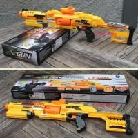MAINAN SOFT BULLET X GUN BATREI - SENAPAN NERF TEMBAKAN ANAK EDUKATIF